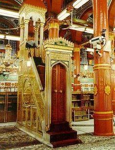 Mimbar Rasulullah SAW di Masjid Nabawiy