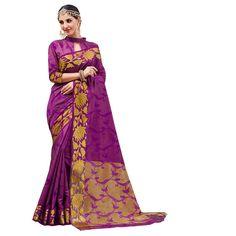 db195cca07e71 Buy Latest Purple Plain Tussar Silk Saree With Blouse