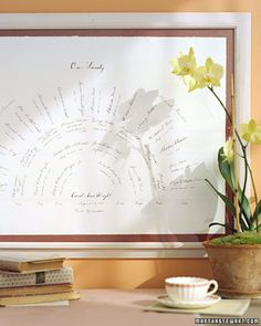 family tree fan chart.  i love my family and cherish my heritage so much.  this would be so wonderful to make.