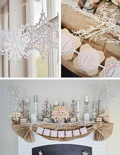 Rustic Winter Wonderland 1st Birthday Party