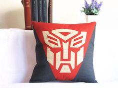 Transformers  Linen pillow Housewares Pillow Pillow cover Cushion cover brown Home Decor Throw pillow Decorative pillow by SweetyFairy on Etsy https://www.etsy.com/listing/157310790/transformers-linen-pillow-housewares