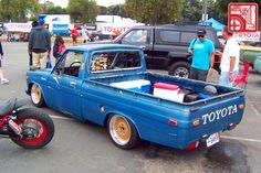 Doin it right. Small Trucks, Mini Trucks, Hilux Mods, 504 Pick Up, Chevy Luv, Small Pickups, Slammed Cars, Lowered Trucks, Toyota Trucks