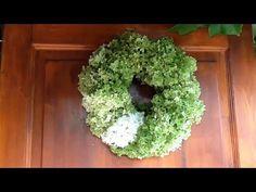 Jana Melas Pullmannová: Venček z hortenzie Hydrangea, Floral Wreath, Gardening, Wreaths, Blog, Painting, Beautiful, Home Decor, Youtube