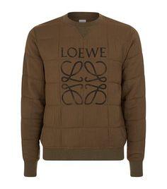 LOEWE Quilted Logo Sweatshirt. #loewe #cloth #