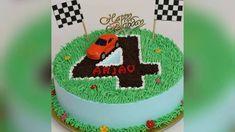 4th Birthday Cakes For Boys, Car Cakes For Boys, Race Car Birthday, 2nd Birthday, Birthday Ideas, Happy Birthday, Race Track Cake, Race Car Cakes, Cars Cake Design