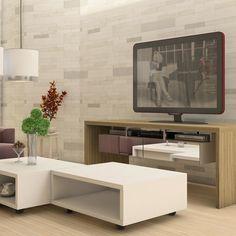Deixe a sua #sala cada vez mais incrível com este #rack espelhado ma-ra-vi-lho-soo! <3 #decoração #design #madeiramadeira