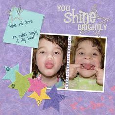 You shine brightly Digital Scrapbooking Layout by Theresa Kavouras