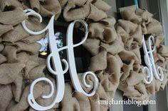 Susie Harris: Burlap wreath DIY