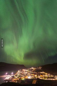 This is EiðI, Faroe Island.