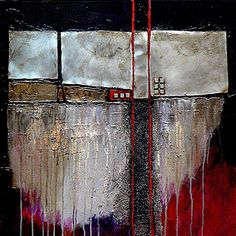 """Daily Painters Abstract Gallery: Colorful Contemporary Abstract Art """"Industrial…"""