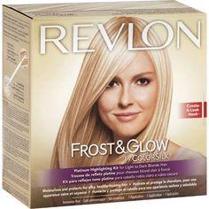 Revlon Frost & Glow Highlighting Kit, Platinum for Light to Dark Blonde Hair
