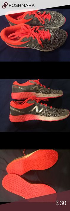 New Balance girls size 6 sneakers new Brand new girls size 6 never worn gray speckled and coral color New Balance Shoes Sneakers