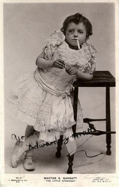 """Publicity still from """"The Little Stranger"""", a farce from 1906. The star, Edward Garratt,  is actually 15 years old in this picture."""