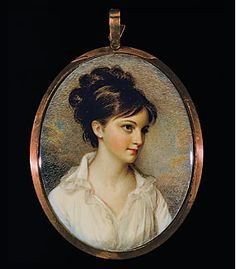 Eliza Izard (Mrs. Thomas Pinckney Jr.), painted by Edward Greene Malbone (American 1777–1807), in 1801. Watercolor on ivory. Gibbes Museum of Art/Carolina Art Association, 1939.04.0004.