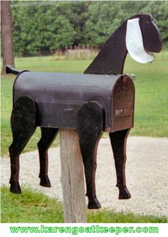 The perfect mailbox for a Nubian goat owner. Who owns it? Find out in Goat Games.