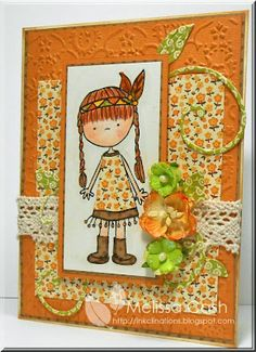 Cute out this cute Little Corn Flower child created by @Melissa Cash using #tombow adhesives