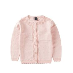 EOZY Toddler Little Girls Cotton Knitted Cardigan Sweater Pink C Size 100cm *** Click on the image for additional details. (This is an affiliate link) #BabyGirlSweaters