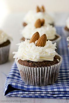 Almond Joy Cupcakes - Taste and Tell