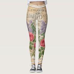 Shop Vintage Retro Lilac Rose Perfume Soap Leggings created by Liveandheal. Cute Leggings, Best Leggings, Floral Leggings, Printed Leggings, Vintage Shops, Retro Vintage, Victorian Men, Lilac Roses, Rose Perfume