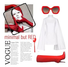 """""""but red"""" by valentina-mayday-celsi on Polyvore featuring moda, Alice + Olivia, Giuseppe Zanotti e Jacquemus"""