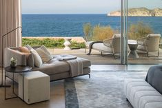 """""""The Cap Adriano experience"""" by Minotti Interior Exterior, Home Interior Design, Villas, Relax, Level Homes, Outdoor Furniture Sets, Outdoor Decor, Mediterranean Style, Large Windows"""