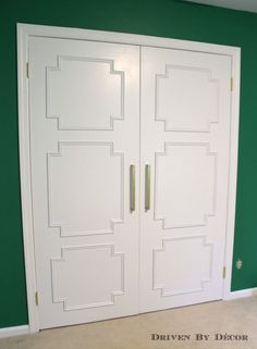 Creative way to upgrade flat doors.