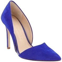 Pre-owned Banana Republic Nib Adelia D'orsay Suede Bell Blue Pumps ($129) ❤ liked on Polyvore featuring shoes, pumps, bell blue, blue suede pumps, blue d orsay pumps, d orsay pumps, suede shoes and d orsay shoes