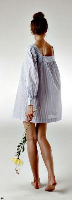 Переделки: Сарафаны и платья из мужских рубашек — Рукоделие