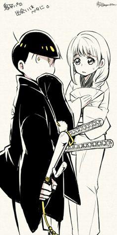 Osomatsu-san Jyushimatsu & Homura #Anime「♡」