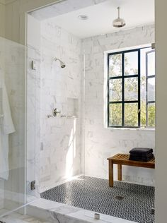 Shower with A View | Content in a Cottage