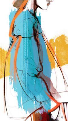 Fashion illustration by Nina Kosmyleva