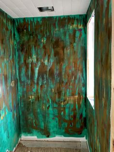 Using modern masters rust paint to give character to a plain bathroom in studio Rust Paint, Modern Masters, Original Paintings, Creativity, Studio, Bathroom, Character, Art, Washroom