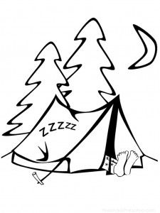 camping coloring page nuttin but preschool