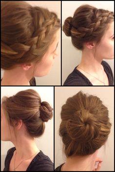 Donut Bun Hairstyles, Hair Dos, Braids, Children, Hair Styles, Fashion, Shopping, Hairdos, Up Dos