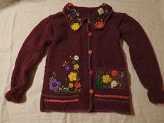 Robótkomania: Sweterek w kwiatki