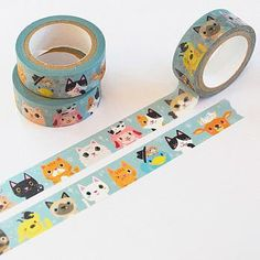 Hey, I found this really awesome Etsy listing at https://www.etsy.com/listing/207956633/cat-washi-tape