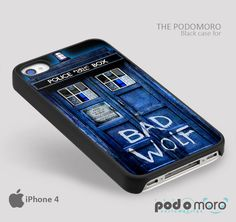 Tardis Bad Wolf Doctor Who for iPhone 4/4S, iPhone 5/5S, iPhone 5c, iPhone 6, iPhone 6 Plus, iPod 4, iPod 5, Samsung Galaxy S3, Galaxy S4, Galaxy S5, Galaxy S6, Samsung Galaxy Note 3, Galaxy Note 4, Phone Case