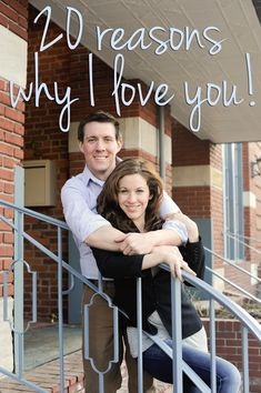 20 Reasons Why I Love You - a great idea for couples!