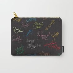 Disney autographs black with rainbow