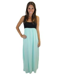 Black and Mint Chiffon Dress – Zoey
