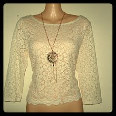 Cute laced long sleeve shirt Never worn Tops Blouses