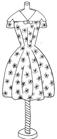 It's for stitchery I think, but this woud make a nice women's card. daisy dress