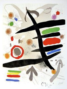 Joan Miró (Spanish, 1893–1983) | The Perseids I, 1970 lithograph.