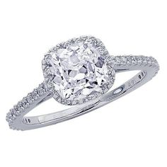 1.15 Carat GIA Certified Cushion Cut / Shape Gorgeous Halo Style Diamond Engagement Ring  Disclosure: affiliate link:  http://anonymz.com/?http://yupurl.com/fzcmo9