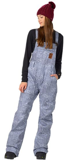 Snowboarding Outfit, Snowboarding Women, Burton Snowboards Women, Womens Bib Snow Pants, Jeans, Denim Overalls, Dungarees, Alaska Fashion, Trousers