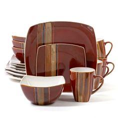 BUY THESE ASAP. Hometrends Bazaar Brown 16-Piece Dinnerware Set $40 ...