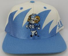 ed8d2b756fd North Carolina Tar Heels Vintage Snapback Logo Athletic Sharktooth Hat NCAA  Rare Tar Heels