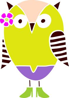 Quickly and easily paint a fun and fabulous design on walls in your home with our Striped Wing Owl Stencil!