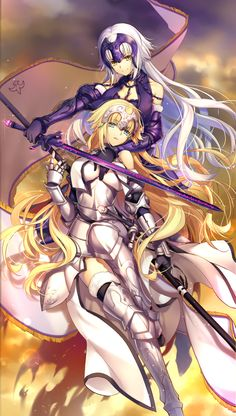 Jeanne D'arc and Jeanne Alter~Fate/Apocrypha~Fate/Grand Order by kingchenxi