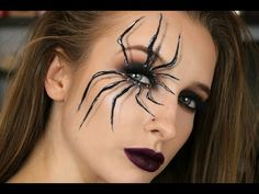 Spider Halloween Look Jaclyn Hill x Morphe Palet Spider Web Makeup, Unique Halloween Makeup, Halloween Makeup Sugar Skull, Halloween Eyes, Halloween Makeup Looks, Spider Halloween Costume, Trendy Halloween, Morphe Palette, Halloween Tutorial
